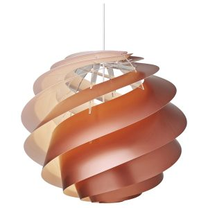 Swirl 3 medium pendant light - large - copper