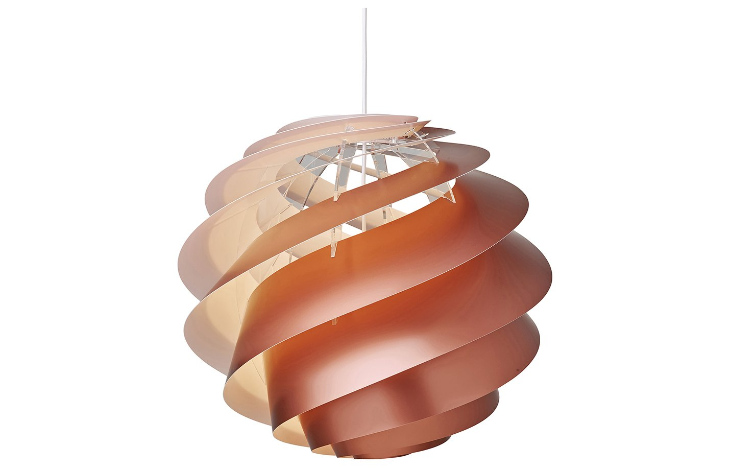 Swirl 3 medium pendant light – large – copper