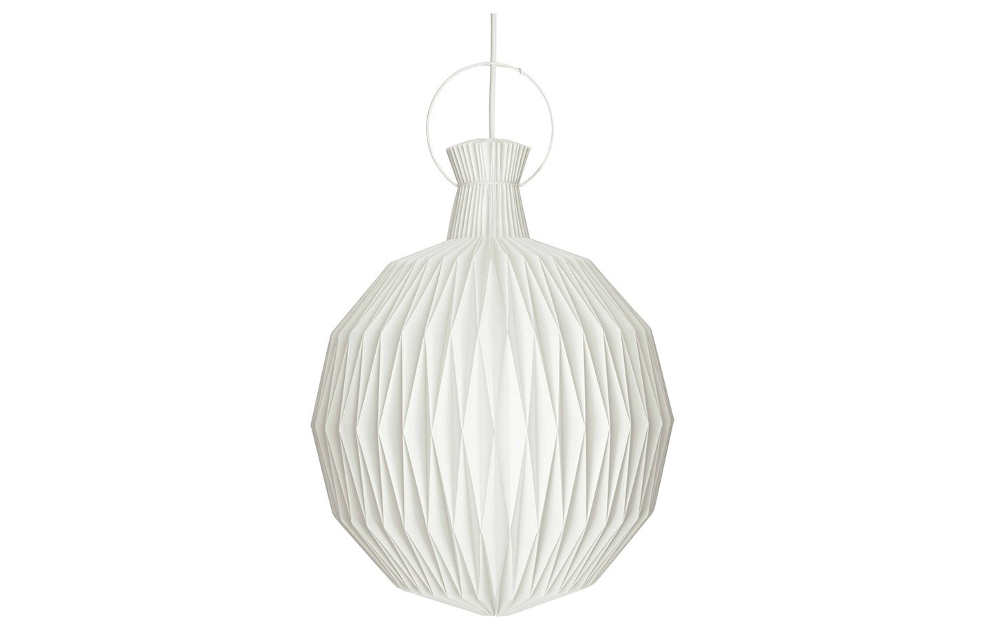 The lantern pendant light – small – white