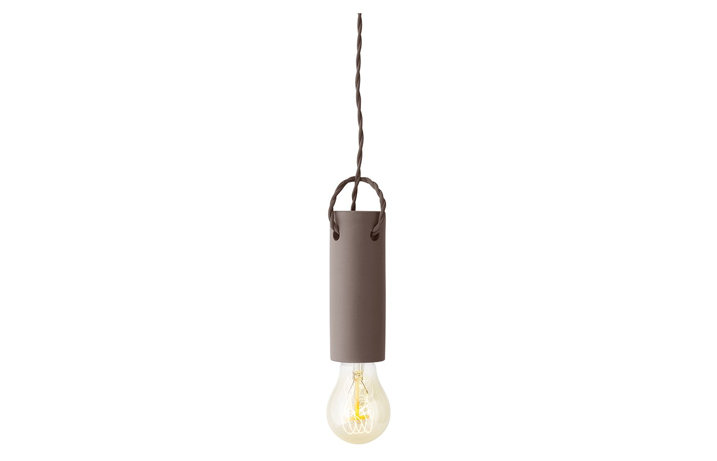 Tied pendant lamp – taupe