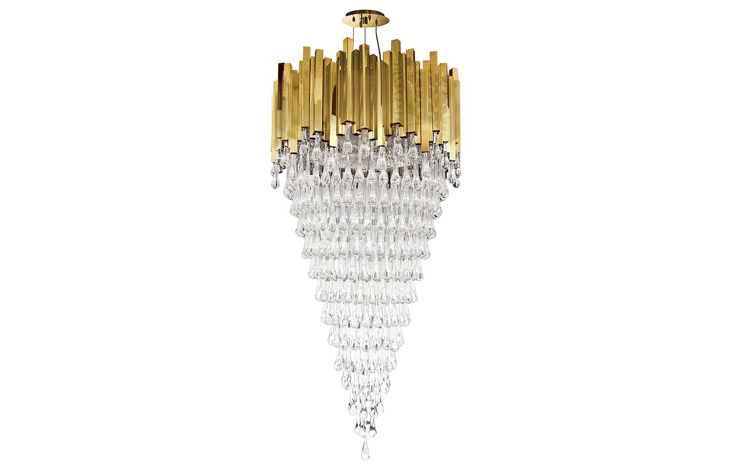 Trump chandelier light crystal – Gold