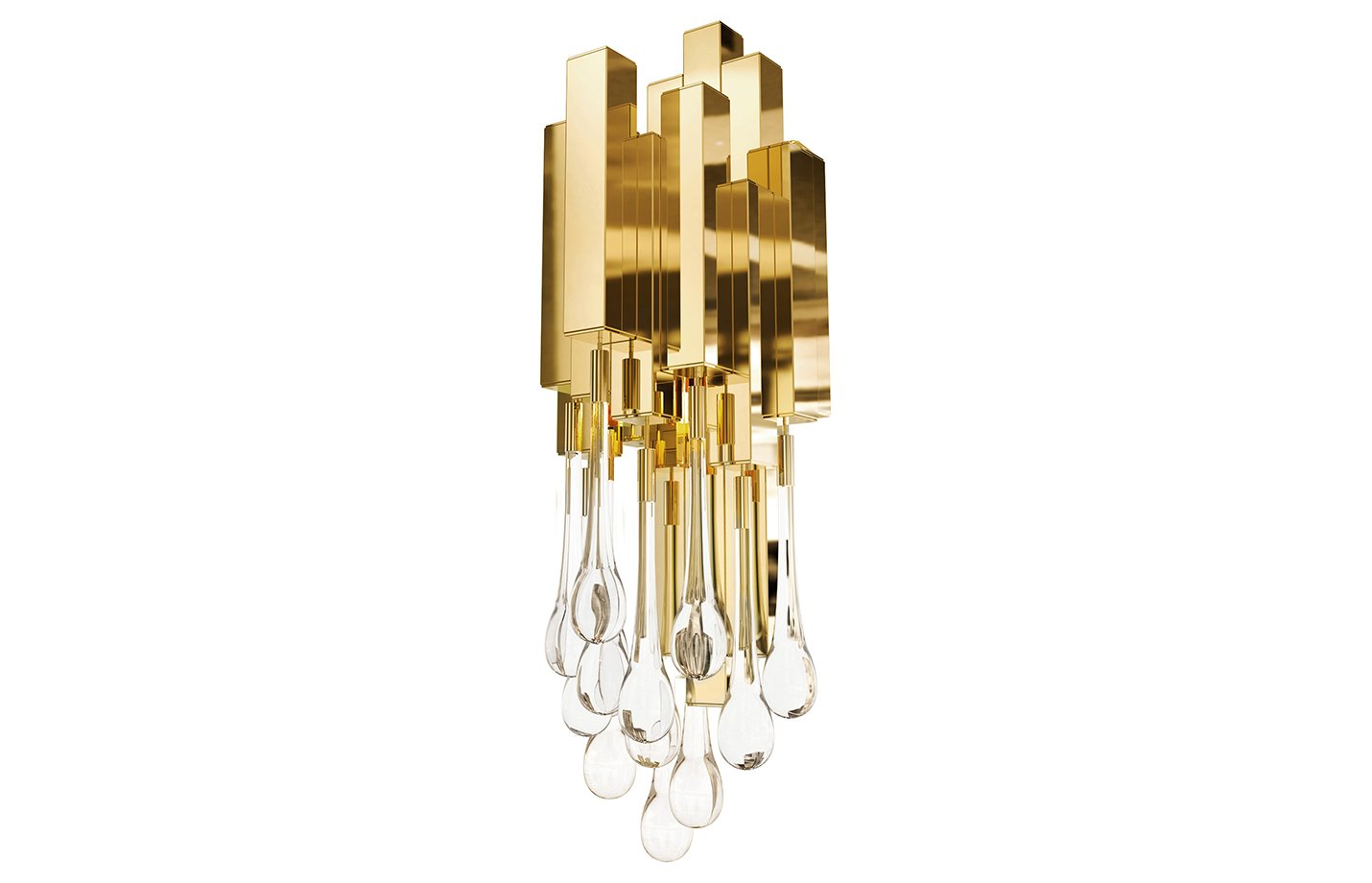 Trump wall lamp – crystal – gold