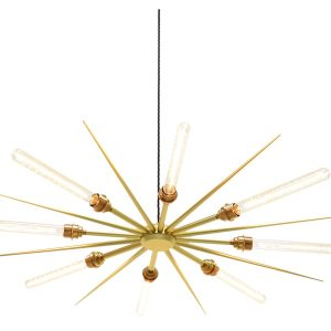 Vega 16 chandelier light - Gold