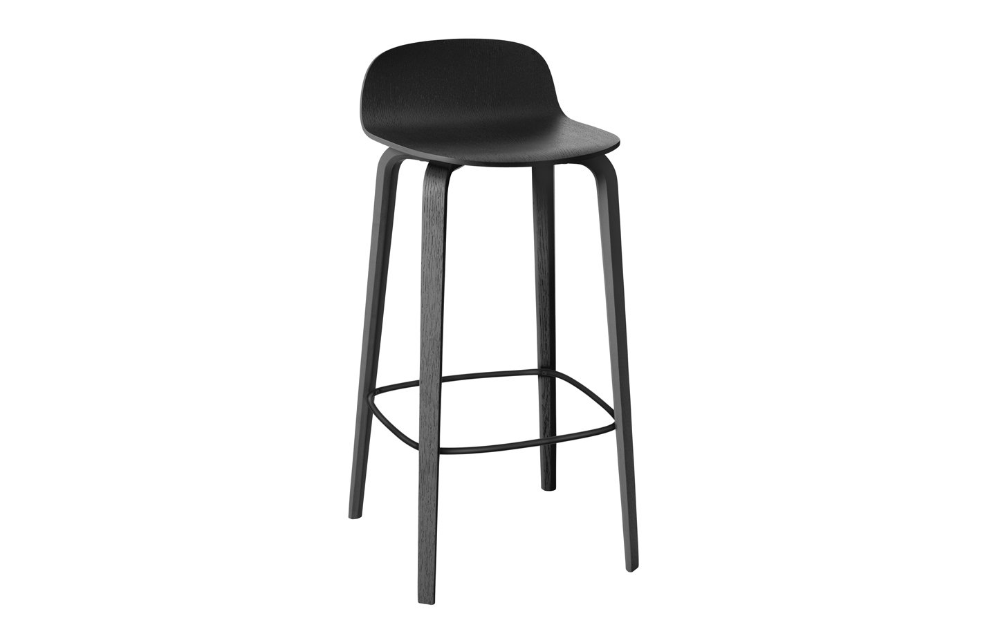 Visu bar stool – high – black
