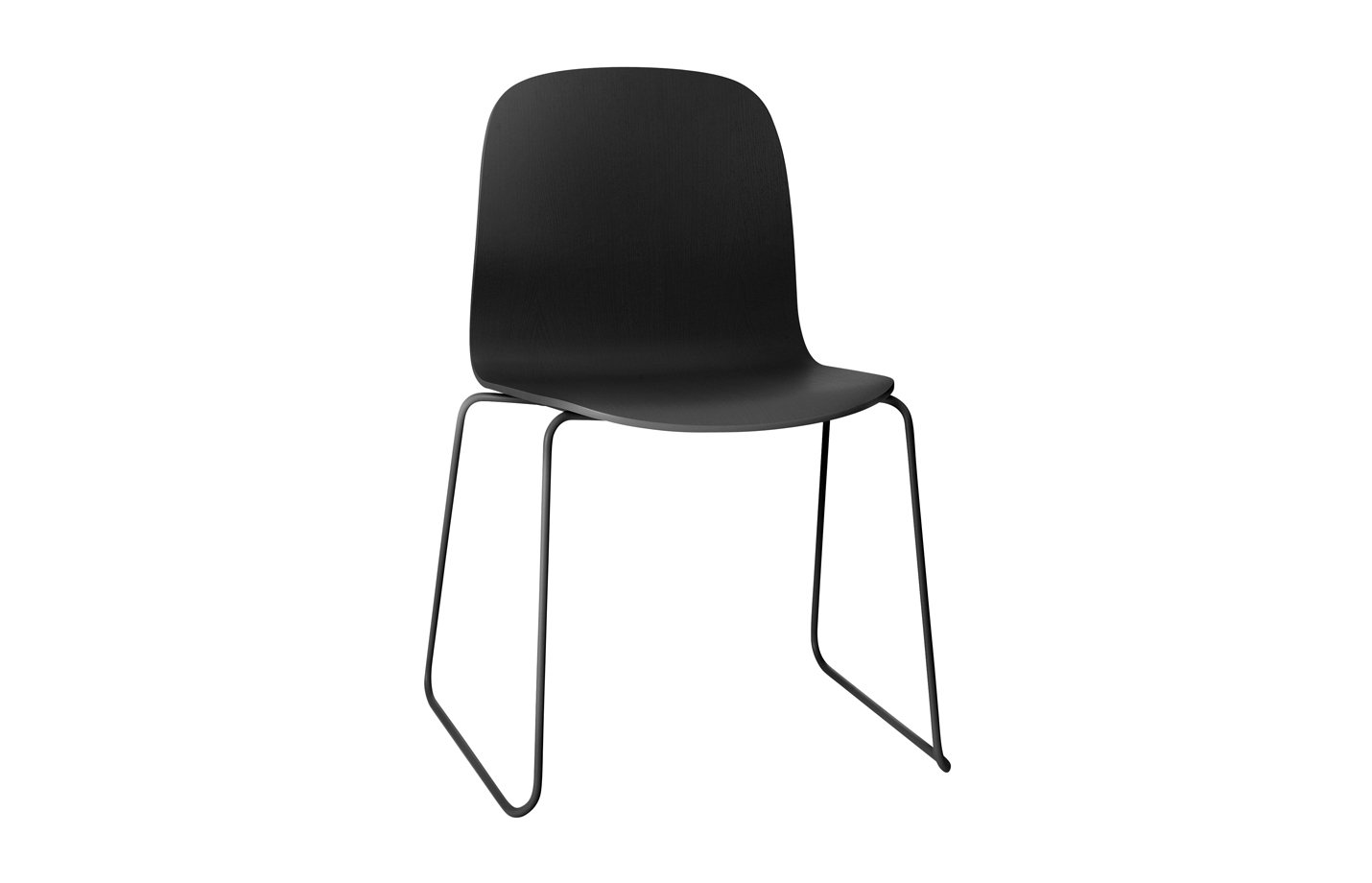 Visu sled base chair – black