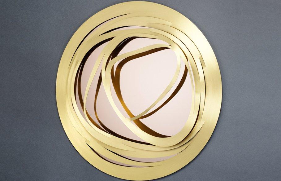 Web Round – Small – Gold