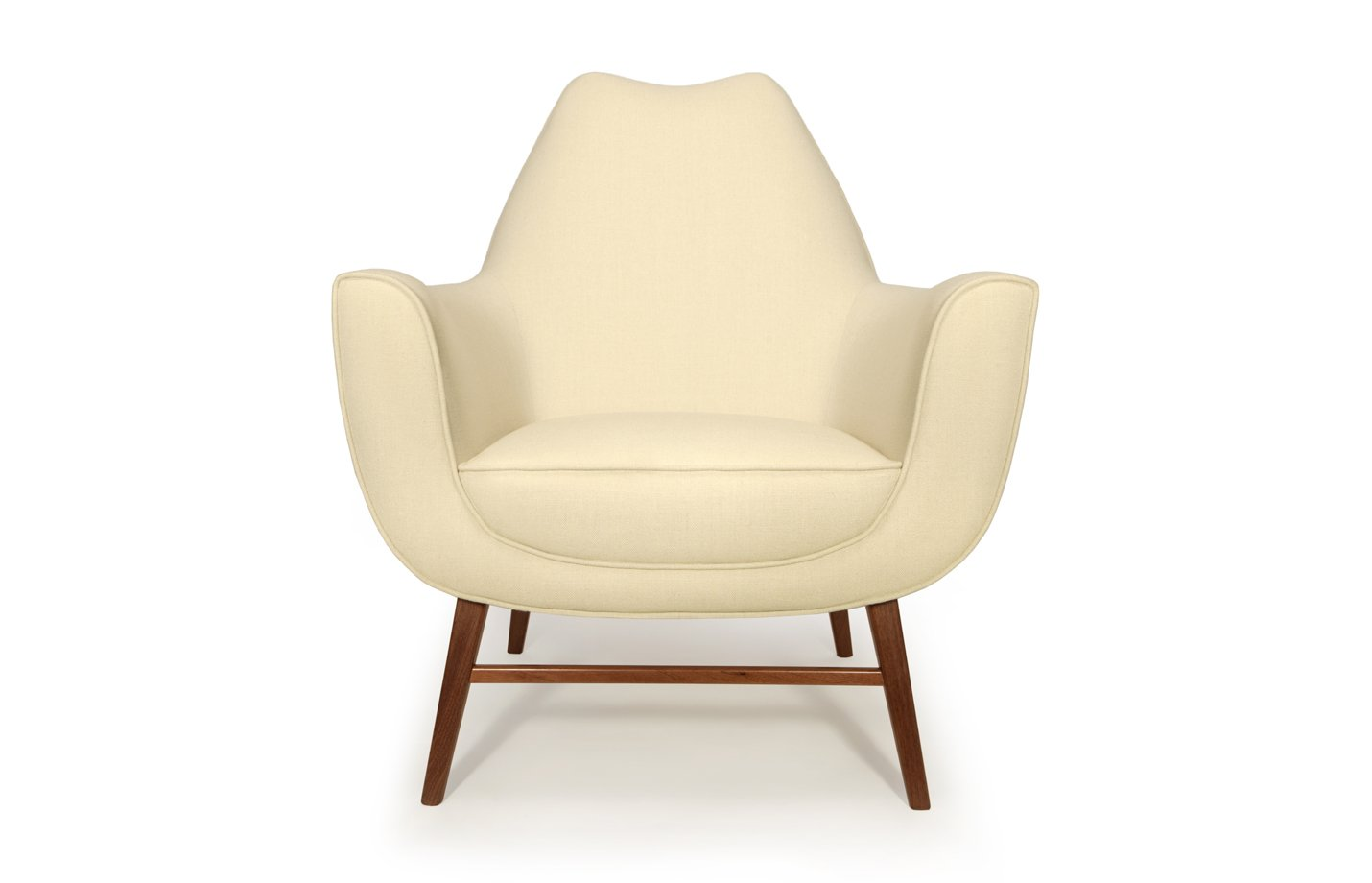 Western armchair lounge front – ivory