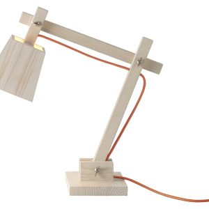 Wood lamp table light - Orange