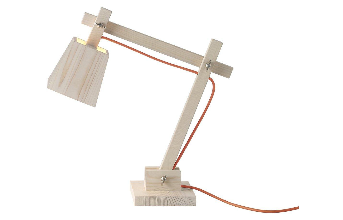 Wood lamp table light – Orange