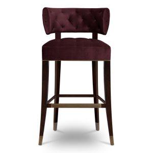 Zulu bar chair - Red