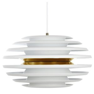 Ellipse pendel pendant light - White - gold