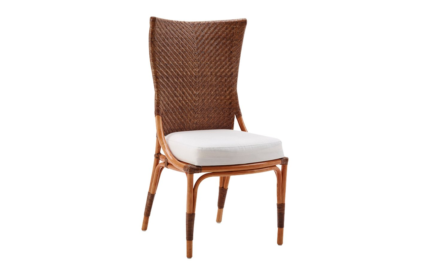 Melody chair – rattan – cherry