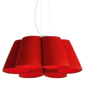 Florinda 6 Pendant Light - Red