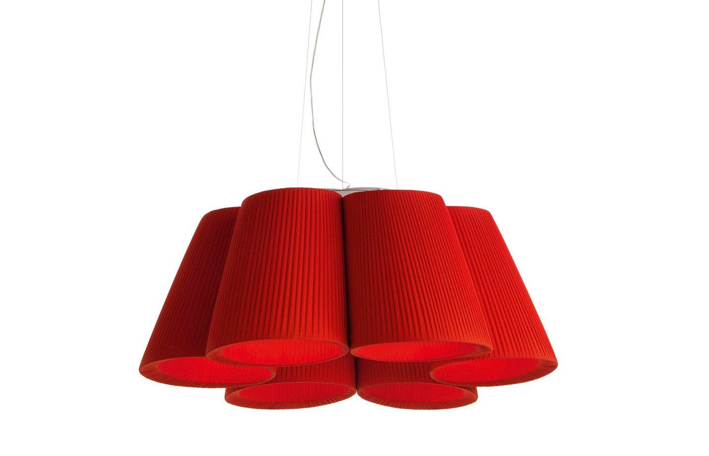 Florinda 6 Pendant Light – Red
