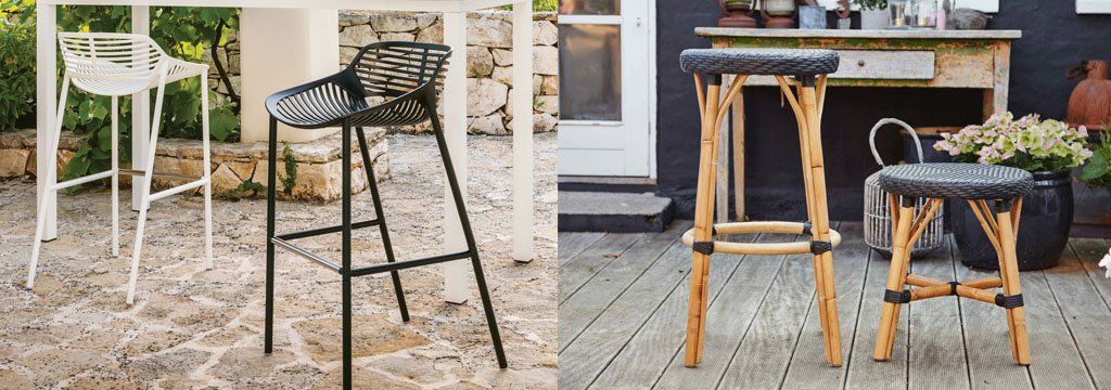 Swell Outdoor Stools Bar Stools Wicker Stools Metal Stools Download Free Architecture Designs Intelgarnamadebymaigaardcom