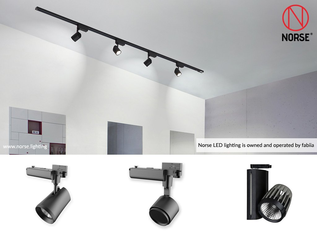 Led track lighting shop track light track lighting fixtures they can be used for a number of applications including shops offices hotels and other commerical areas click here to visit our norse lighting aloadofball Choice Image