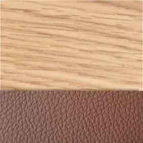 Oak / Chestnut Faux Leather