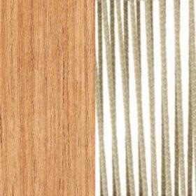 Natural teak + Round Rope Sand