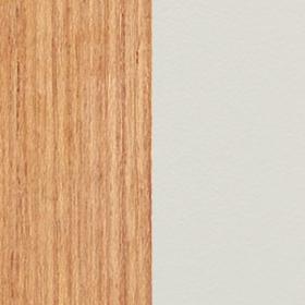 Natural Teak + Aluminium Textured matt Warmwhite